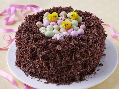Chocolate Egg Filled Easter Nest Betty Crocker