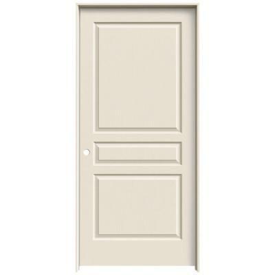Add Mirror Jeld Wen Textured 3 Panel Primed Molded Prehung Interior