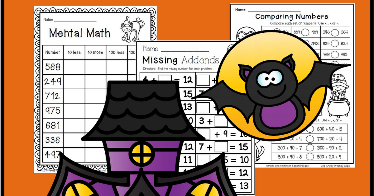 Halloween Math for Second Grade (With images) Halloween