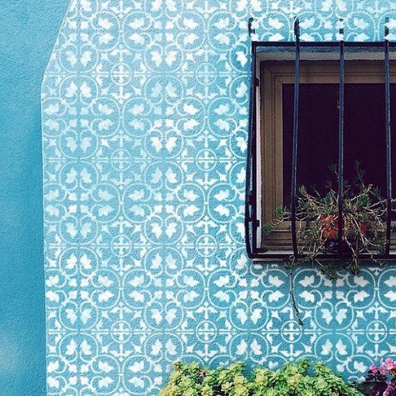 Plantilla de azulejo de zamora dise o mediterr neo - Dimensiones baldosas ...