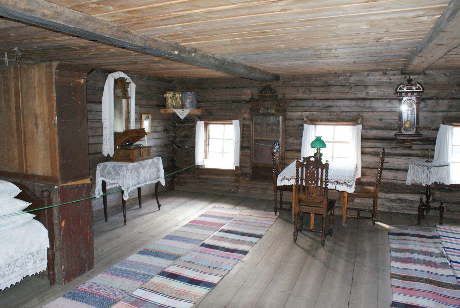 Картинка дом внутри деревенский