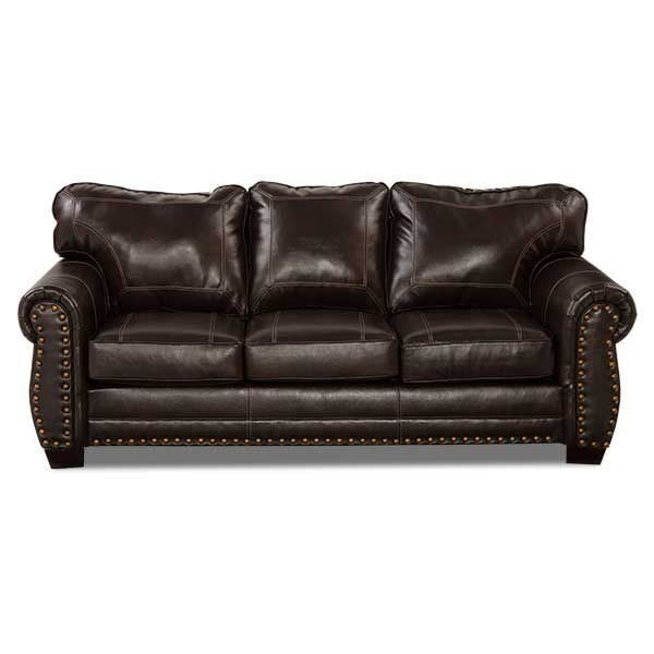 Cuddle Up On The Panama Bonded Leather Sofa From Simmons