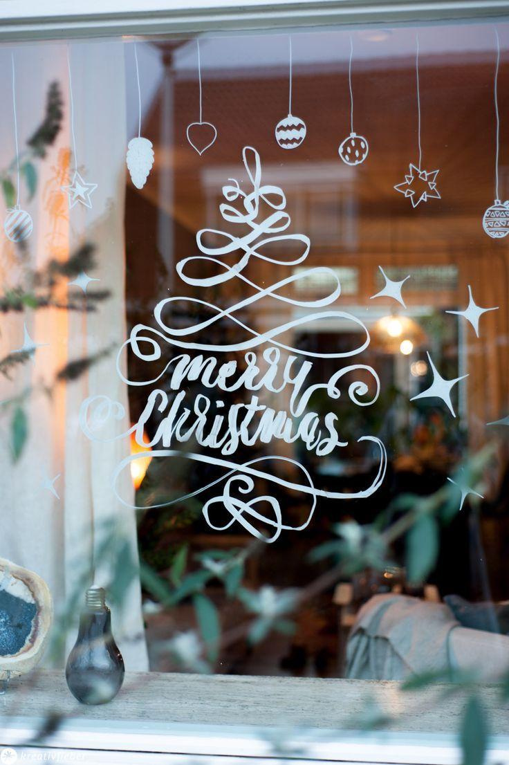 9 Tipps für Fensterbilder mit Kreidemarkern #fensterdekoweihnachten