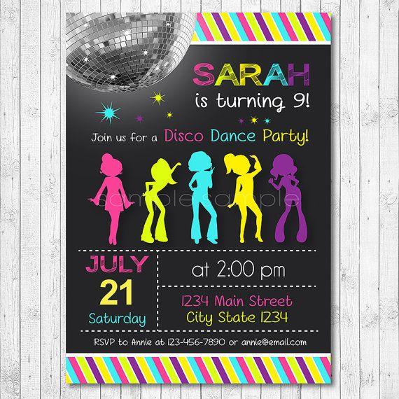 Disco Invitation Disco Invite Disco Party Dance by funkymushrooms – Disco Party Invitation Ideas