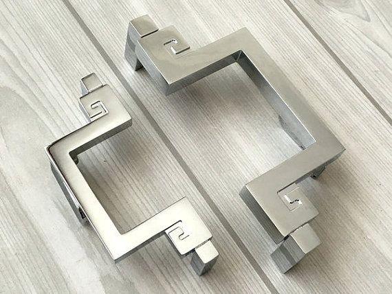 """375"""" 5"""" Silver Drawer Pulls Handles Dresser Knobs Pulls Kitchen Amazing Kitchen Cabinet Drawer Pulls 2018"""