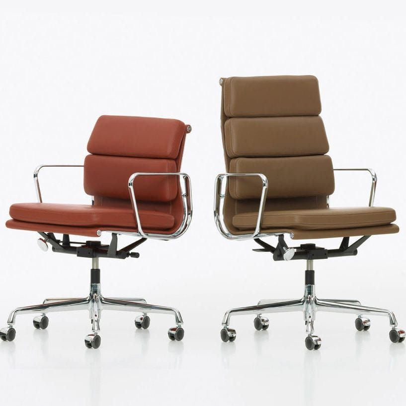 Office chair contemporary swivel on casters soft pad
