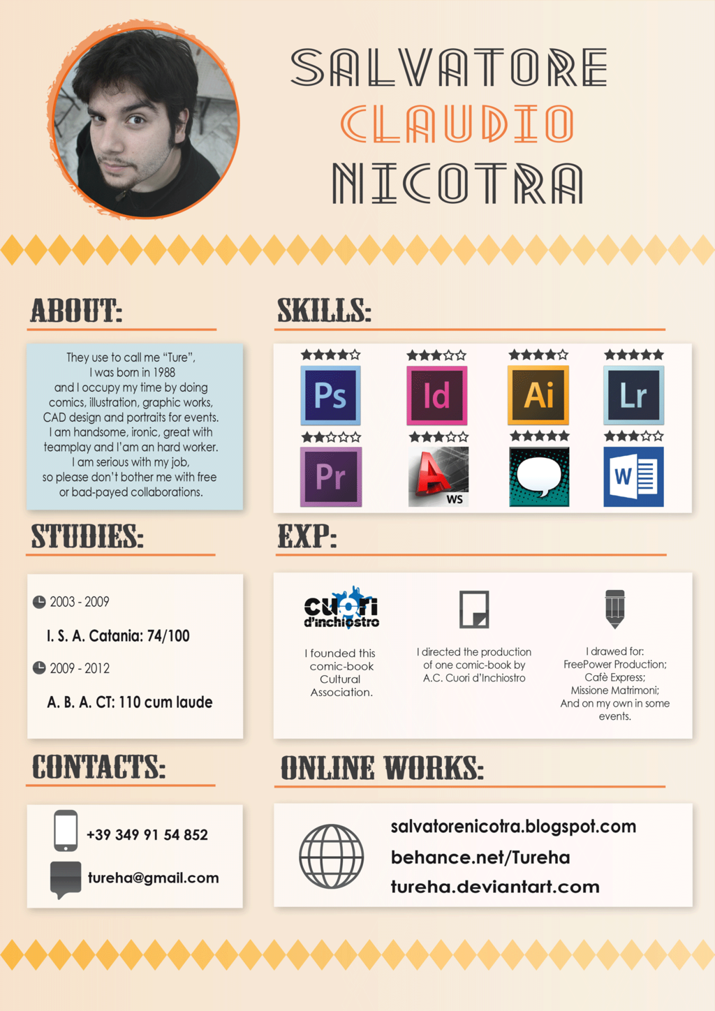 clean creative resume. Resume Example. Resume CV Cover Letter