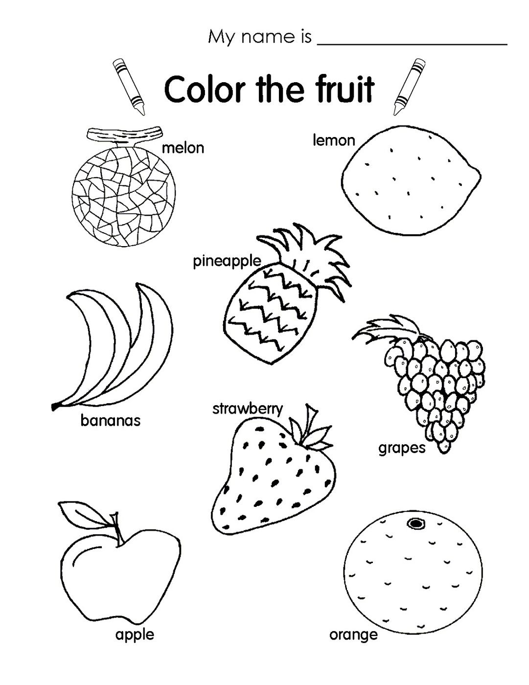 Fun Kids Worksheets Fruits For Kids Kids Learning Activities