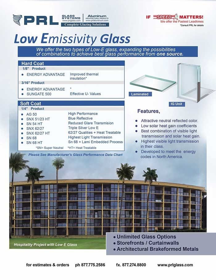 No matter what type of Low E glass you get, they perform