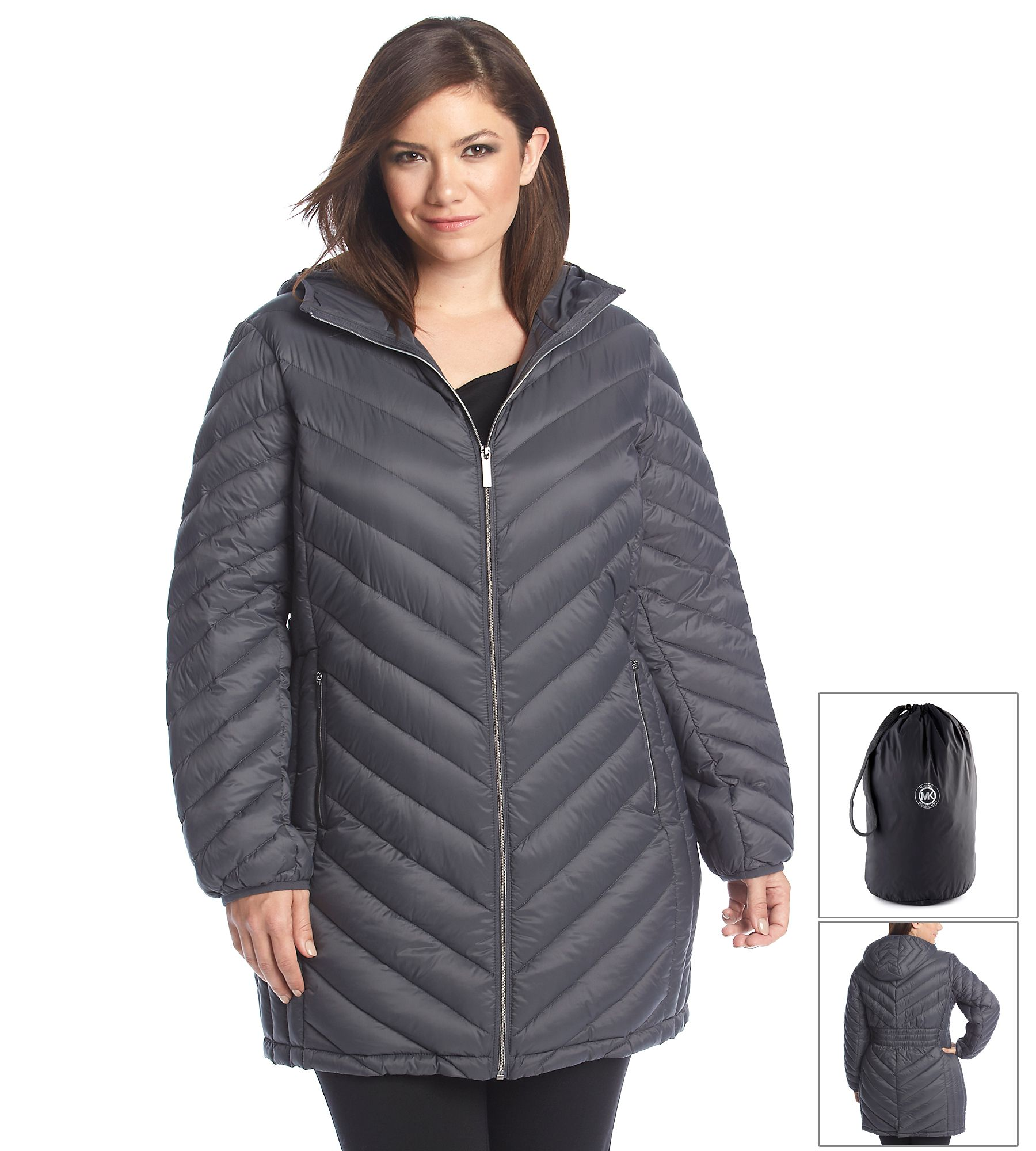 45dd2a80d300a MICHAEL Michael Kors® Plus Size Three-Quarter Packable Down Coat ...