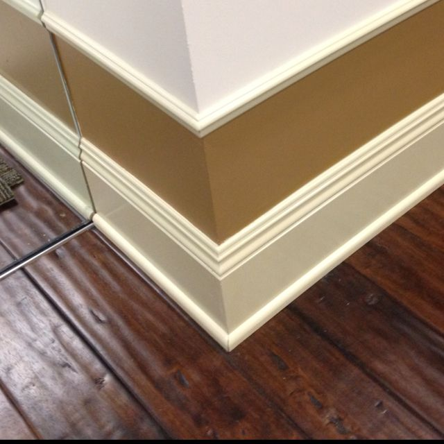 Chair Rail Uneven Floor Part - 27: Nothing Like A Shoe Moulding To Help Transition Base Above Uneven Wood  Plank Floors