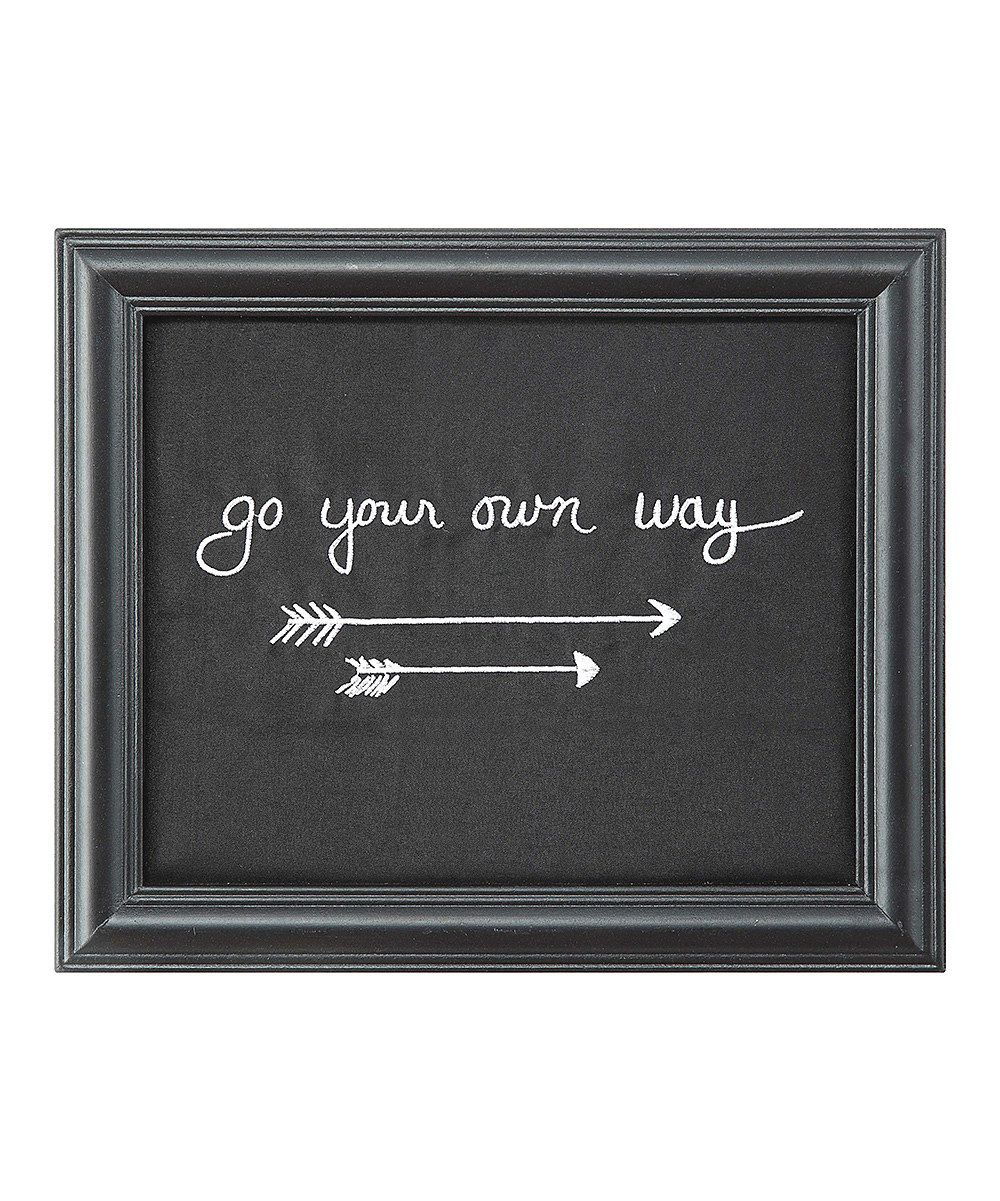 Look at this 'Go Your Own Way' Framed Décor on #zulily today!