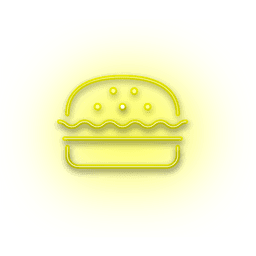 Neon Yellow Burger Icon In 2020 Burger Icon Graphic Design Business Neon Yellow