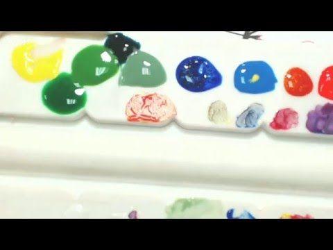 Как легко и быстро создавать дизайны на ногтях акварелью - YouTube