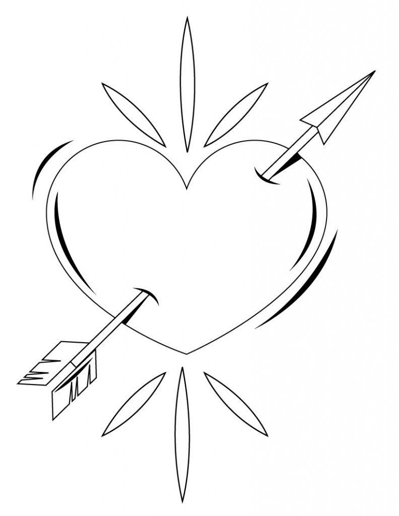Ausmalbilder Rosen Mit Herz