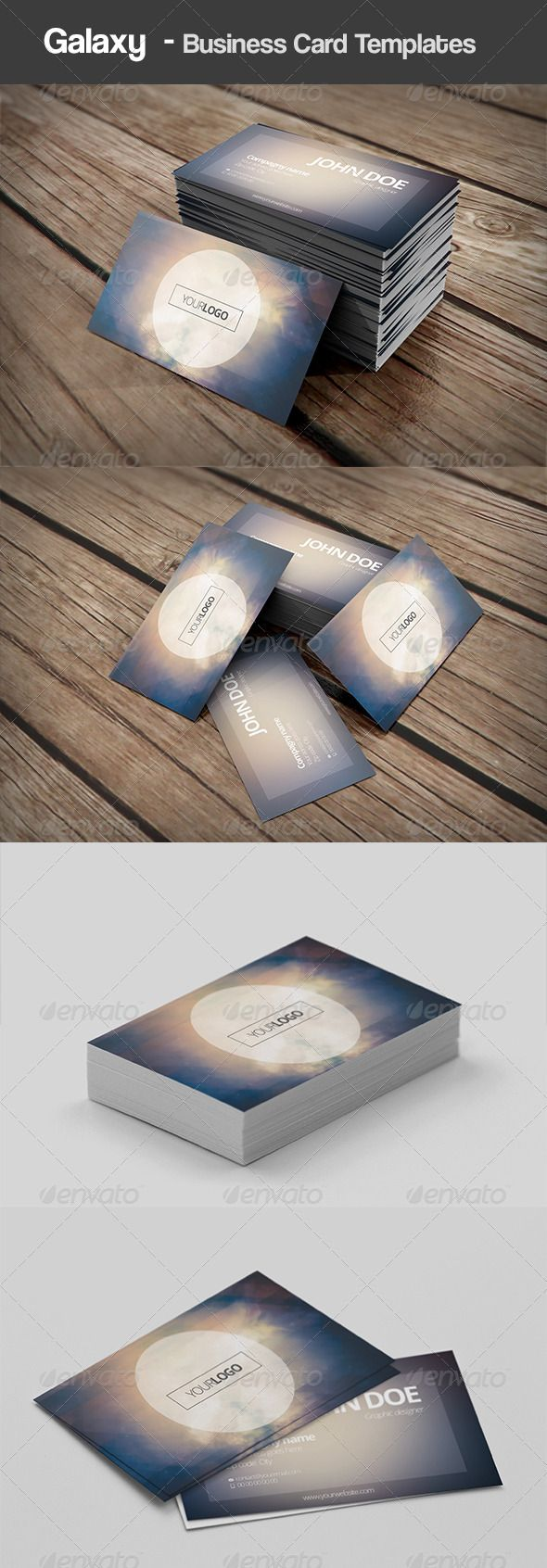 Galaxy Business Card Templates Minimalist Business Cards Modern Business Cards Vertical Business Cards