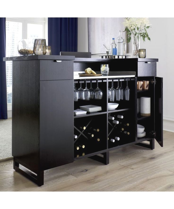 Steamer Standing Home Bar Cabinet with Stainless Steel Top ...