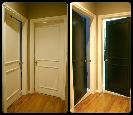 les 25 meilleures id es de la cat gorie portes int rieures noires sur pinterest porte noire. Black Bedroom Furniture Sets. Home Design Ideas