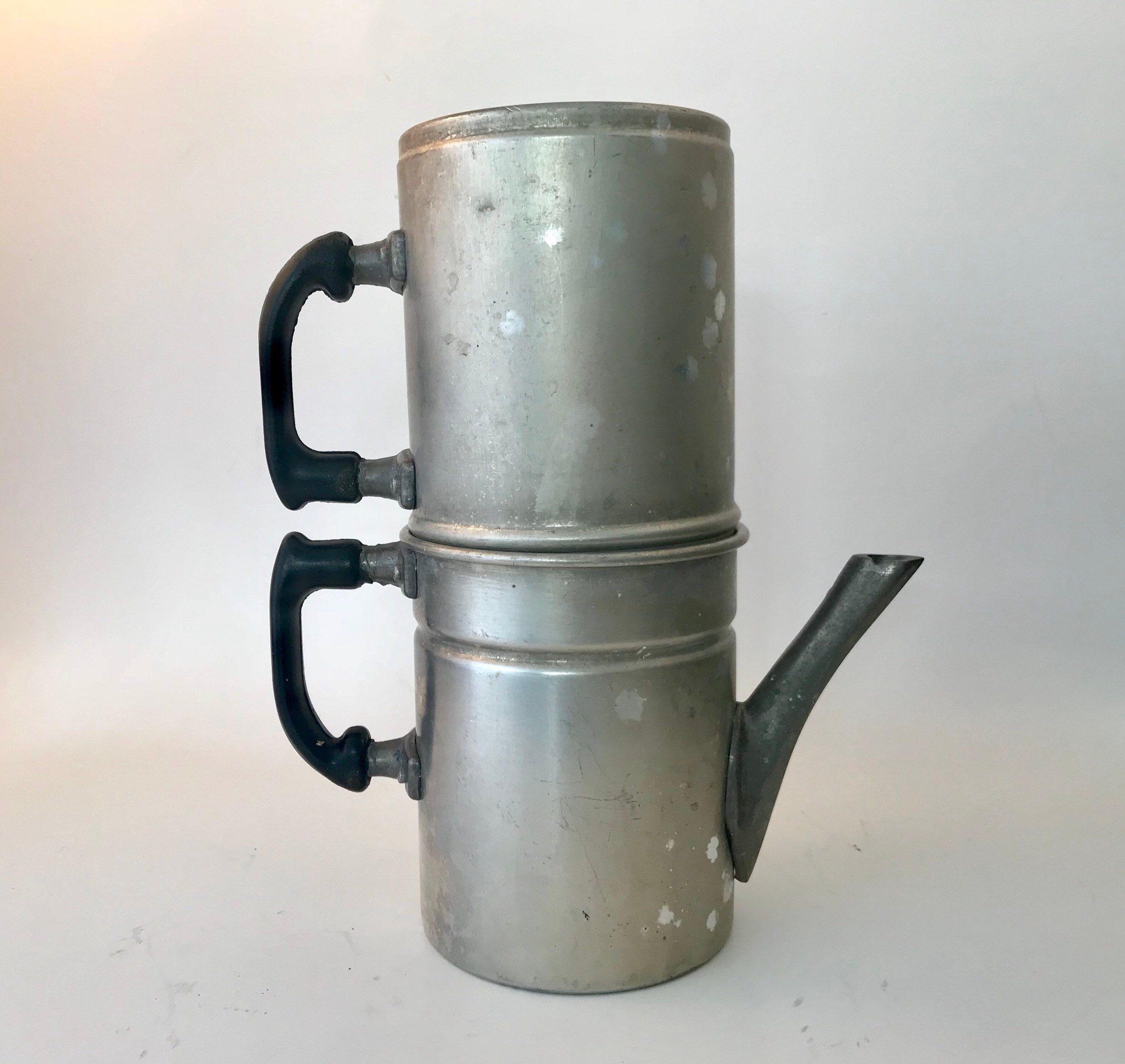 Vintage Espresso Maker Flip drip made in Italy. Old