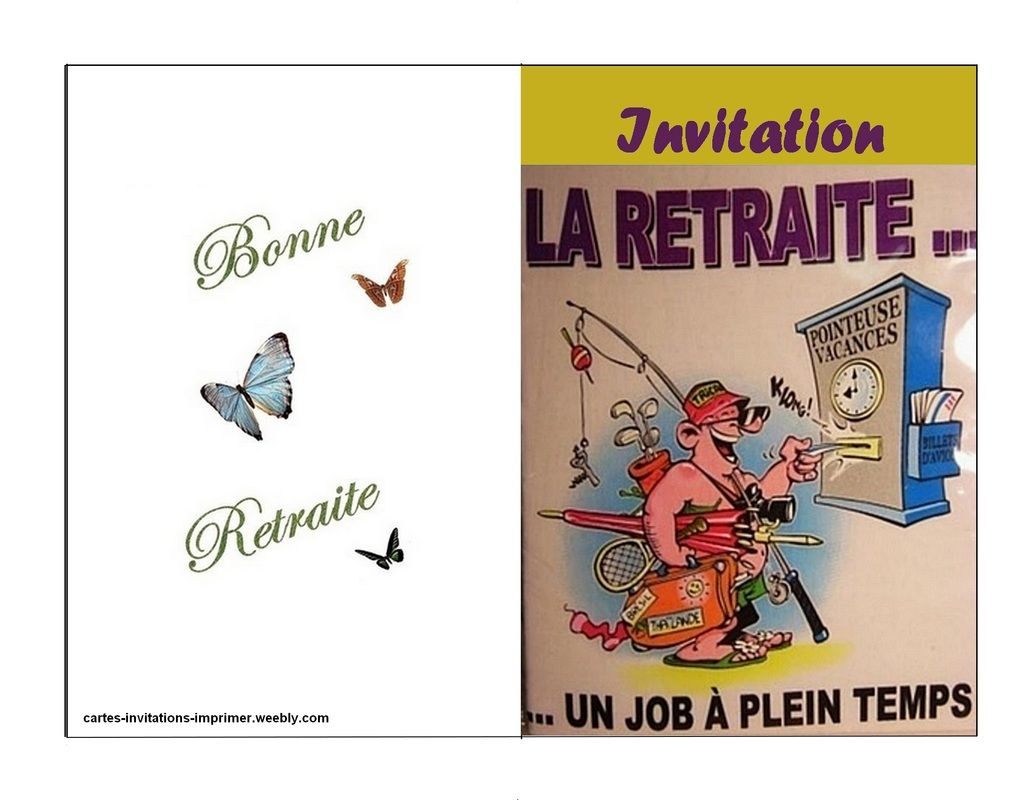 Carte Invitation Retraite Imprimer Gratuite Carte D Invitation A