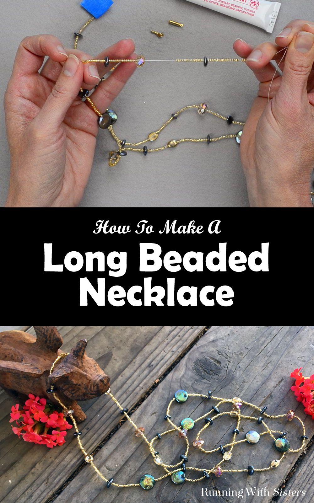How To Make A Long Beaded Necklace | Beaded Jewelry, Diy