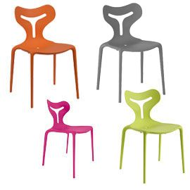 The Calligaris Area51 Chairs CS/1042 is a plastic chair designed by ...