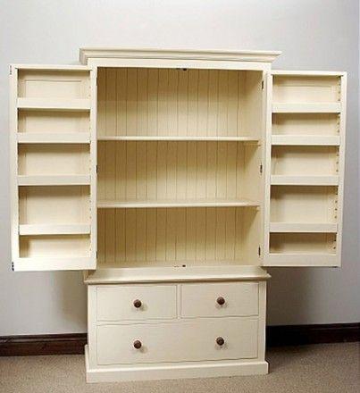 Built In Larder Cupboard Kitchen Pantry Organizers Door Rack Closet Small Storage Systems