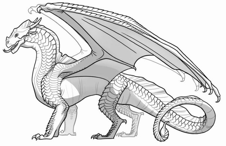 Free Dragon Coloring Pages Printable Printable Coloring Pages To Print In 2020 Dragon Coloring Page Wings Of Fire Dragons Wings Of Fire