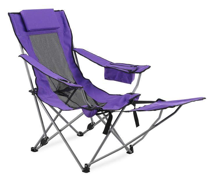 Wilson Fisher Purple Folding Quad Chair With Footrest Big Lots In 2020 Camping Chairs Outdoor Chairs Outdoor