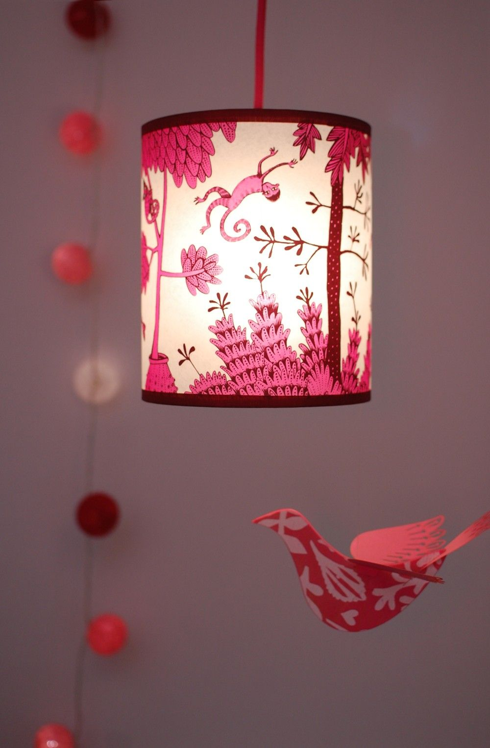 Small Pink Monkey Lampshade Radiance Lamps Lighting Pinterest