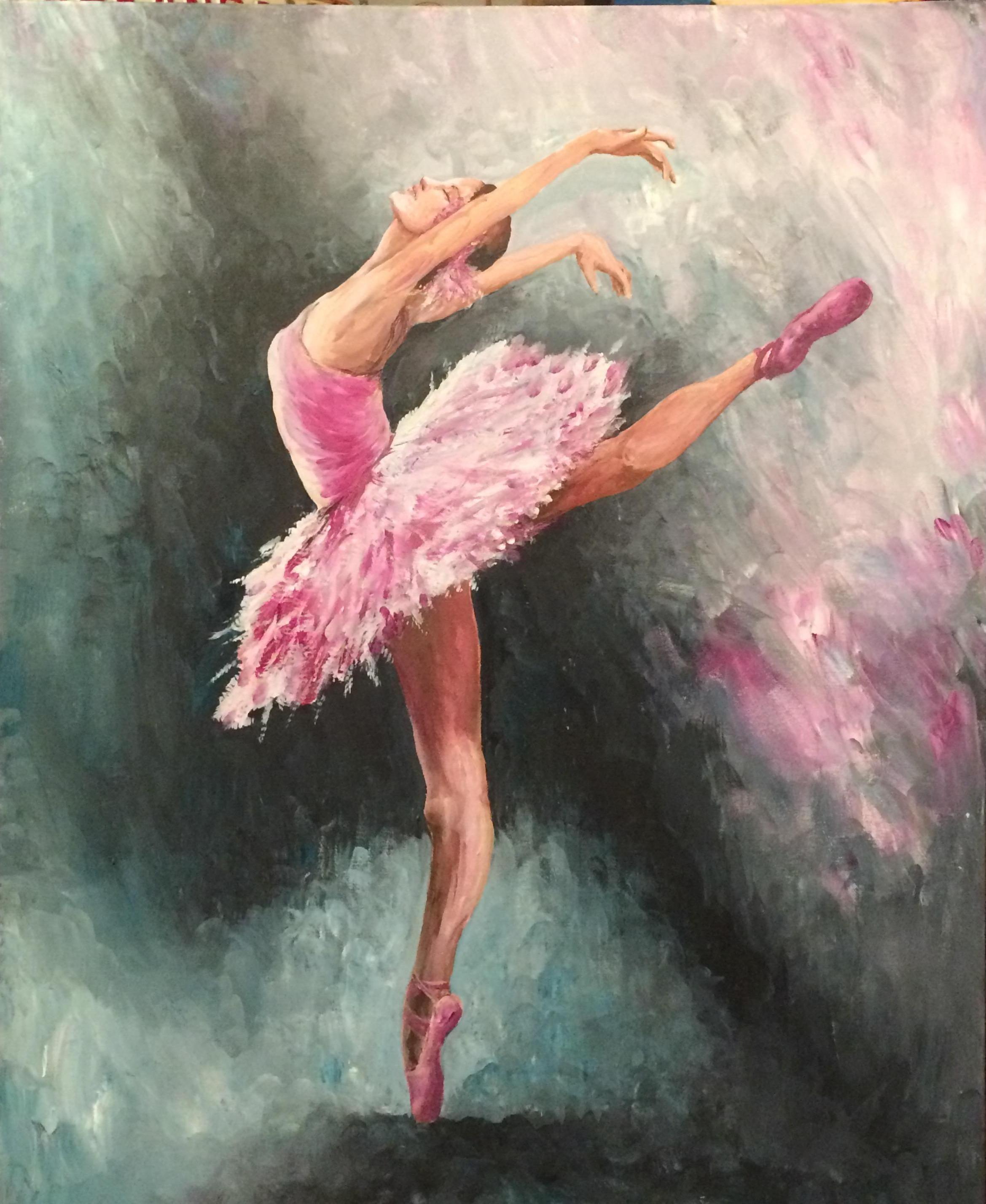трафарета картинки балет живопись убирает зерно или
