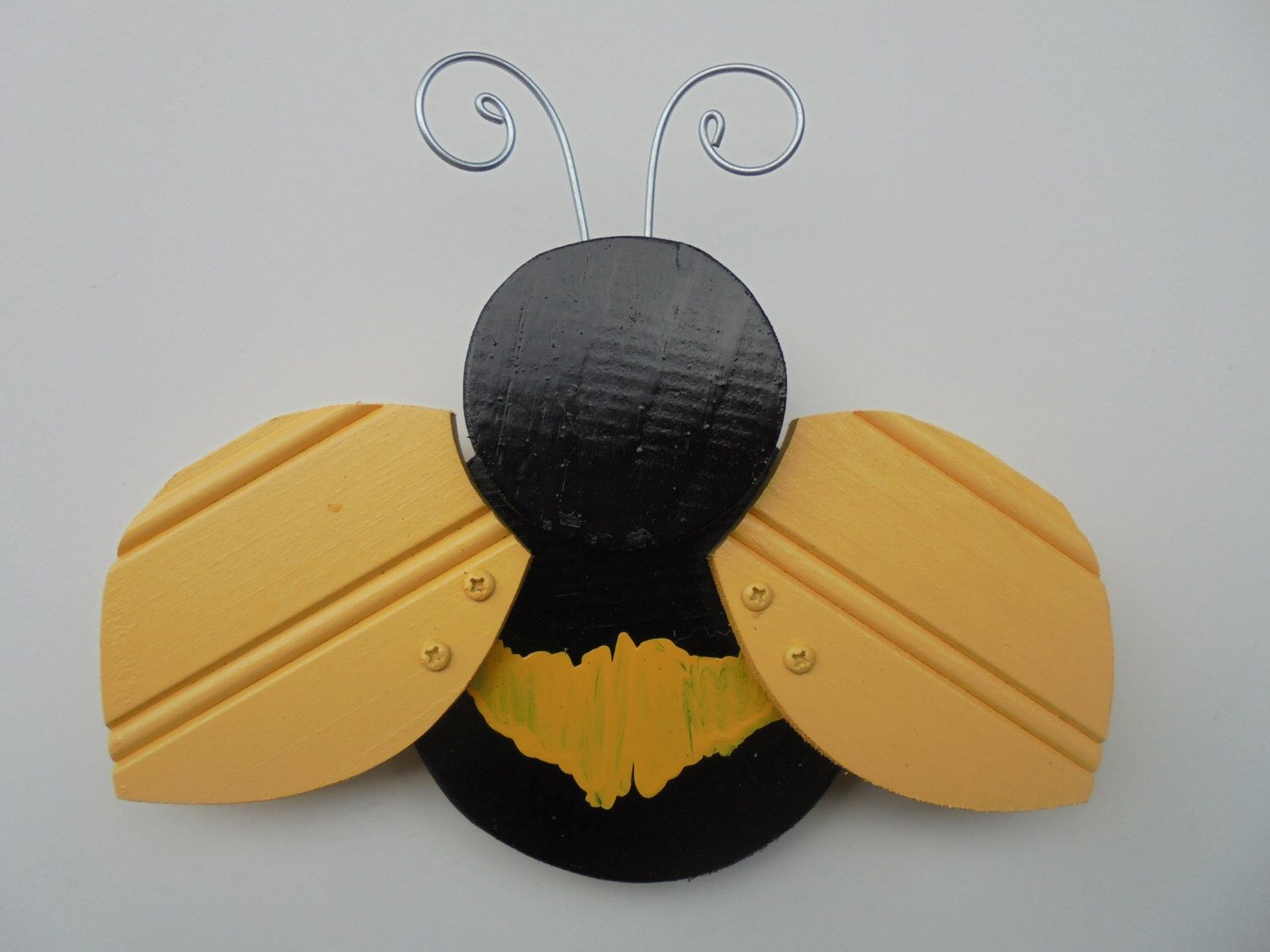 Folk Art Bumble Bee, Yard Art, Garden Decor, Fence Porch Patio Decor ...