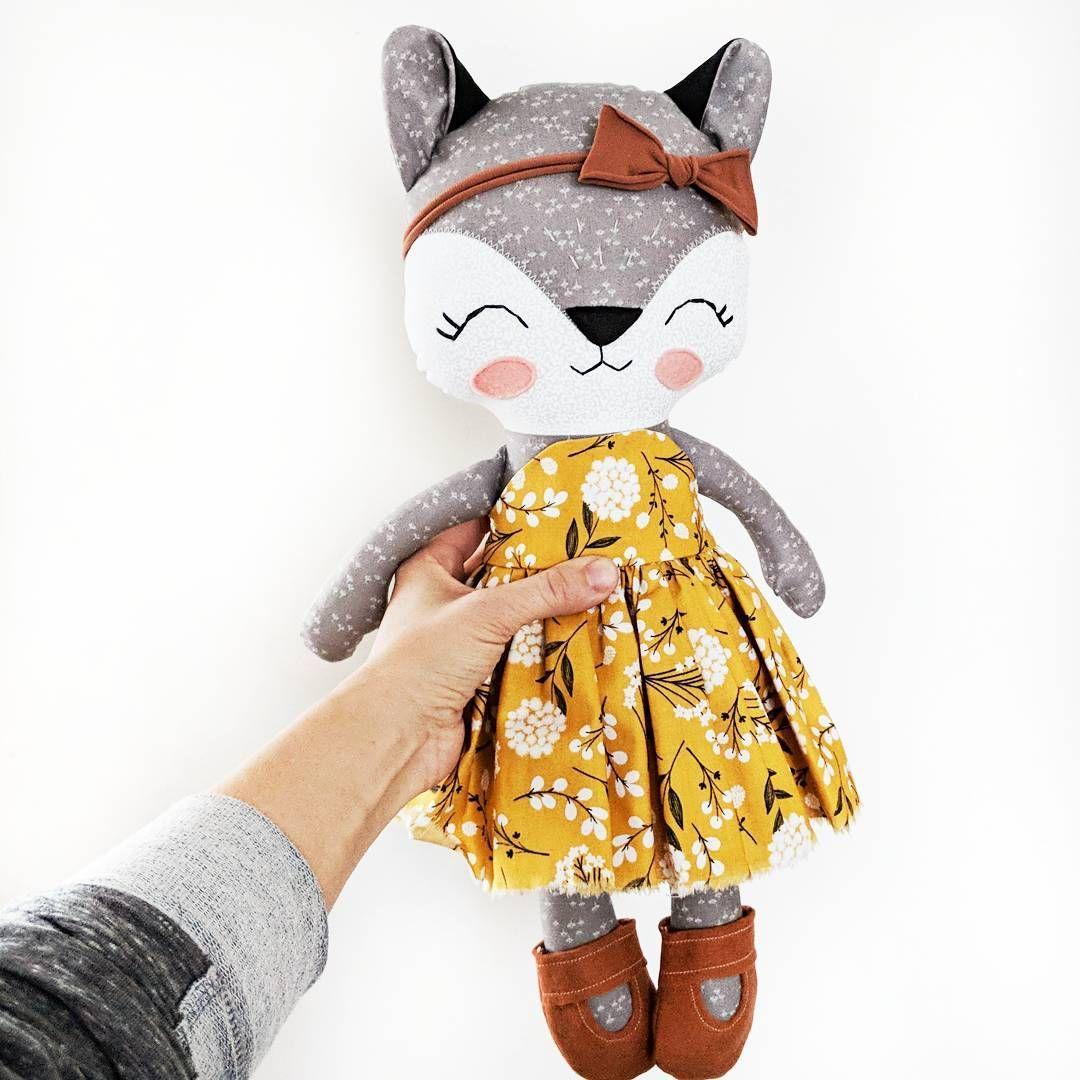 Sweet custom grey fox heading out this week. | MUÑEQUINES | Pinterest