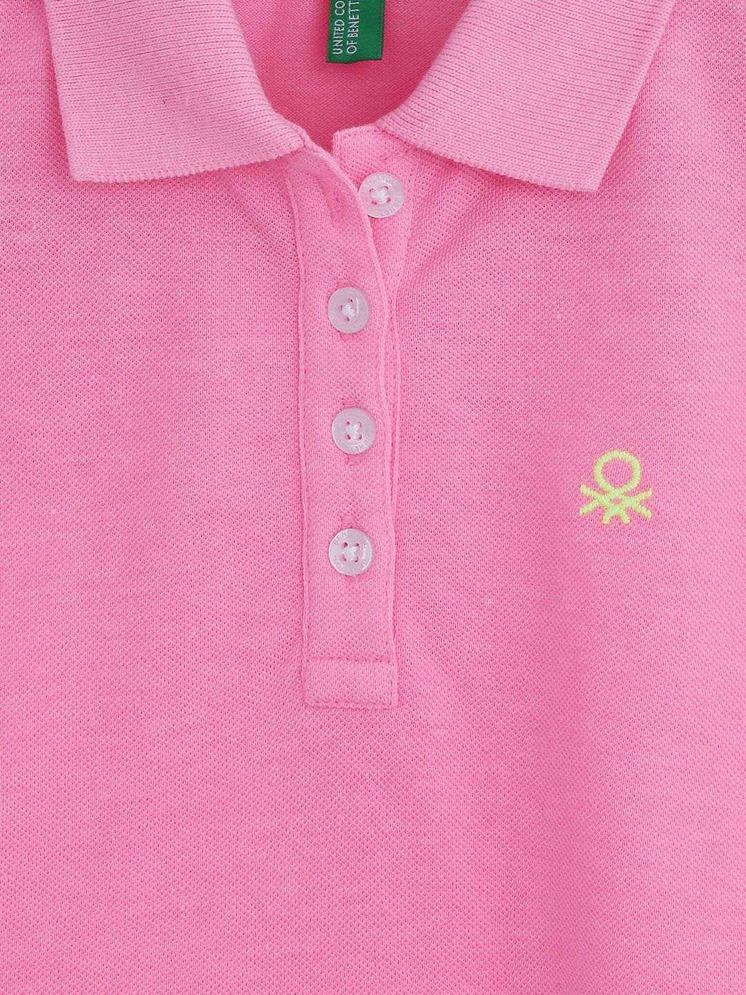 4afb4851 Myntra United Colors of Benetton Girls Pink Polo T-shirt 714652 | Buy  Myntra United