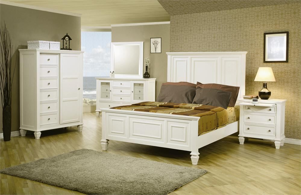 Coaster Sandy Beach Panel Bedroom Set 201301 in 2018 White