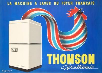 la machine à laver du foyer français - Thomson Gyrathomic - illustration de Guy Georget -