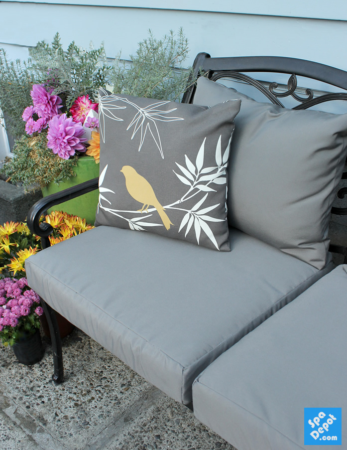 How To Easily Recover Your Outdoor Furniture Cushions Outdoor Furniture Cushions Patio Cushions Patio Furniture Cushions