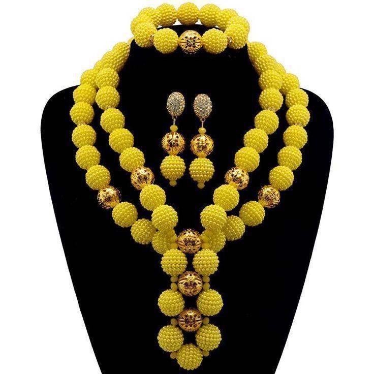 Gelbe afrikanische Perlen Schmuck-Set Gold-Farbe Ball Perlen Brautschmuck nigerianischen Wir ... #nigerianischehochzeit Gelbe afrikanische Perlen Schmuck-Set Gold-Farbe Ball Perlen Brautschmuck nigerianischen Wir ...,  #afrikanische #Ball #Beadedjewelrynigerian #Brautschmuck #gelbe #GoldFarbe #nigerianischen #Perlen #SchmuckSet #wir #nigerianischehochzeit Gelbe afrikanische Perlen Schmuck-Set Gold-Farbe Ball Perlen Brautschmuck nigerianischen Wir ... #nigerianischehochzeit Gelbe afrikanische Per #nigerianischehochzeit