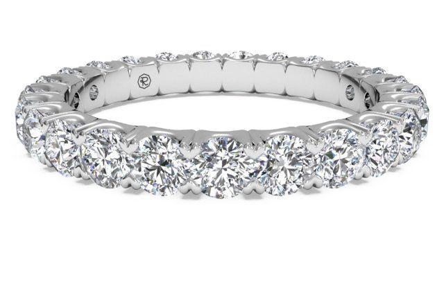 Women S Shared G Diamond Wedding Band In 14kt White Gold 1 25 Ctw