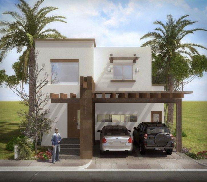 Fachadas De Casas De 2 Pisos Con Balcon Y Cochera Fachadas