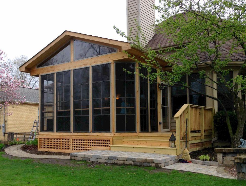 Concrete patio is a common choice porch builders