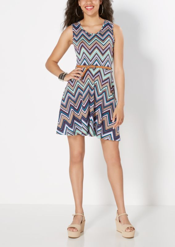 Rue21 Mixed Chevron Belted Skater Dress Found on my new favorite app Dote Shopping #DoteApp #Shopping