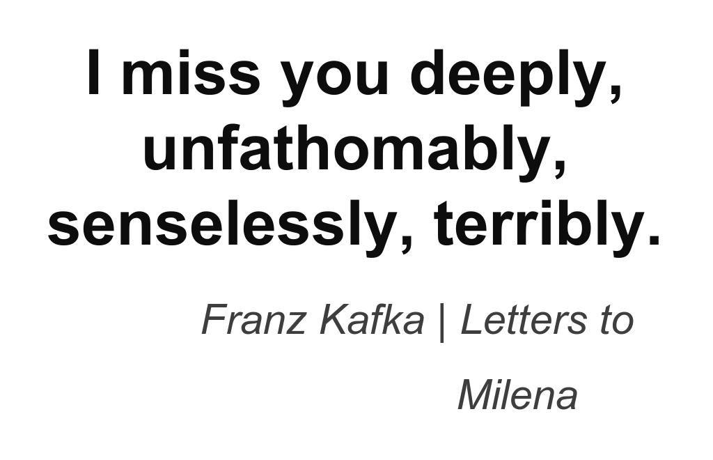 Franz Kafka Letters To Milena