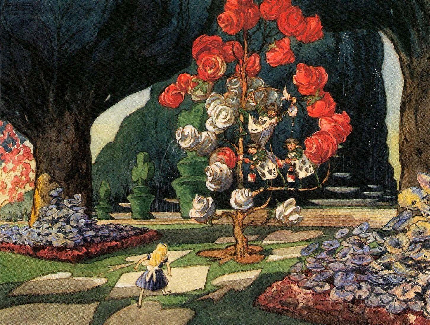 alice in wonderland garden Pesquisa Google Alice in wonderland