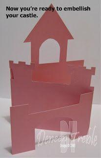 Template For Castle Card Buscar Con Google Princess Card Template Printable Kids Cards