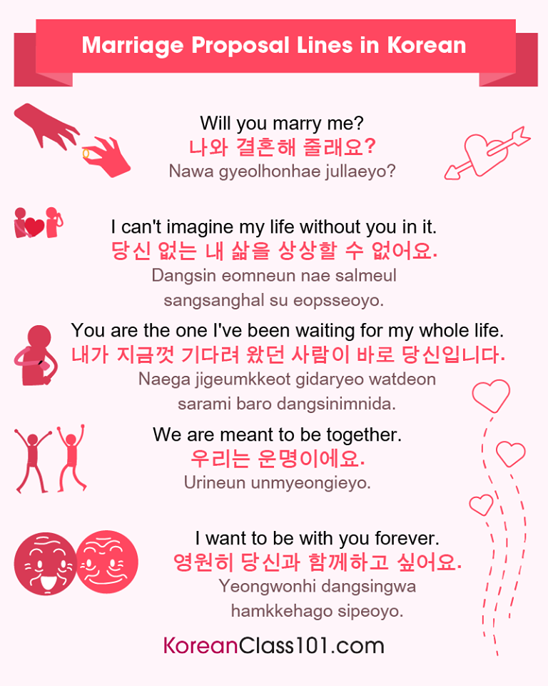 Learn Korean — How to propose in