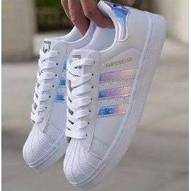 Tênis Adidas Superstar Colorido Foundation Homem e Mulher  5e43642574710