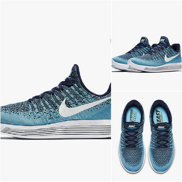 edd2d8c844bbc Running Shoe 2018 Young Big Boys Nike LunarEpic Low Flyknit 2 Binary Blue  Polarized Blue Chlorine