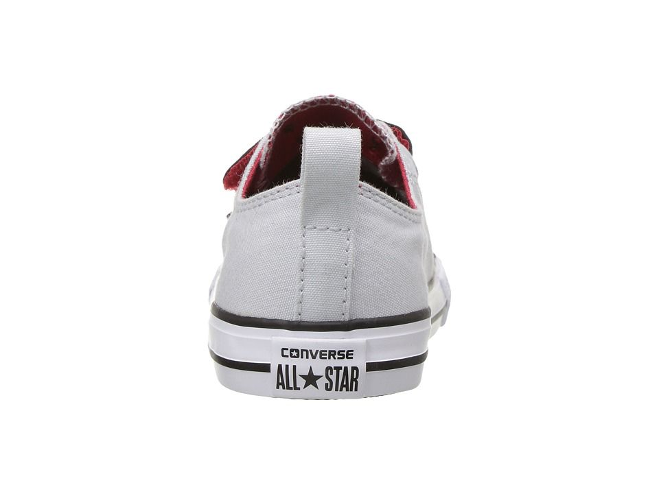 4432bf4d6485 Converse Kids Chuck Taylor All Star 2V - Ox (Infant Toddler) Boys Shoes  Pure Platinum Black Casino