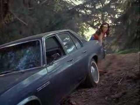 Wonder Woman pulls a car easily - YouTube